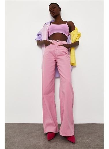 XHAN Pembe Yüksek Bel Oversize Pantolon 1Kxk5-44842-20 Pembe